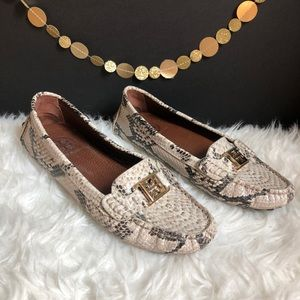 NEW Tory Burch Kendrick Driving Loafers in Python